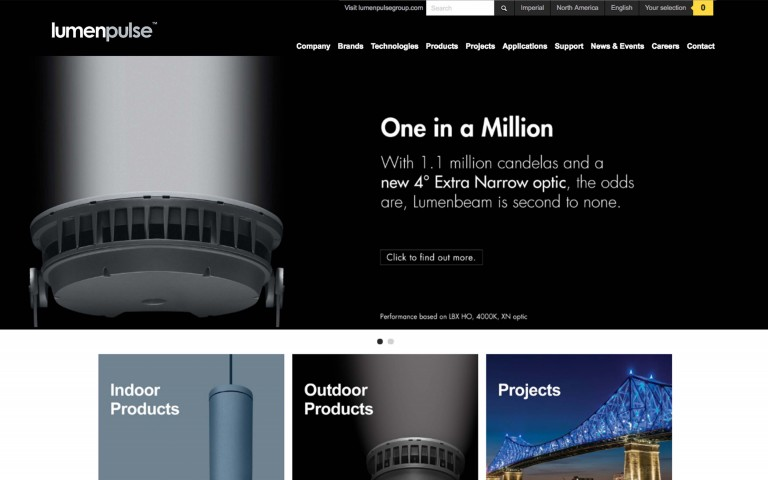 A New Product Interface for Lumenpulse.com