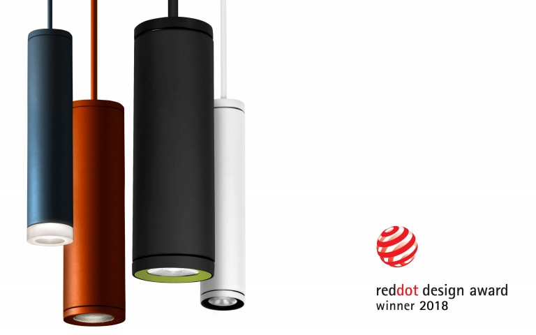 Lumenpulse Cylinders Win 2018 Red Dot Design Award