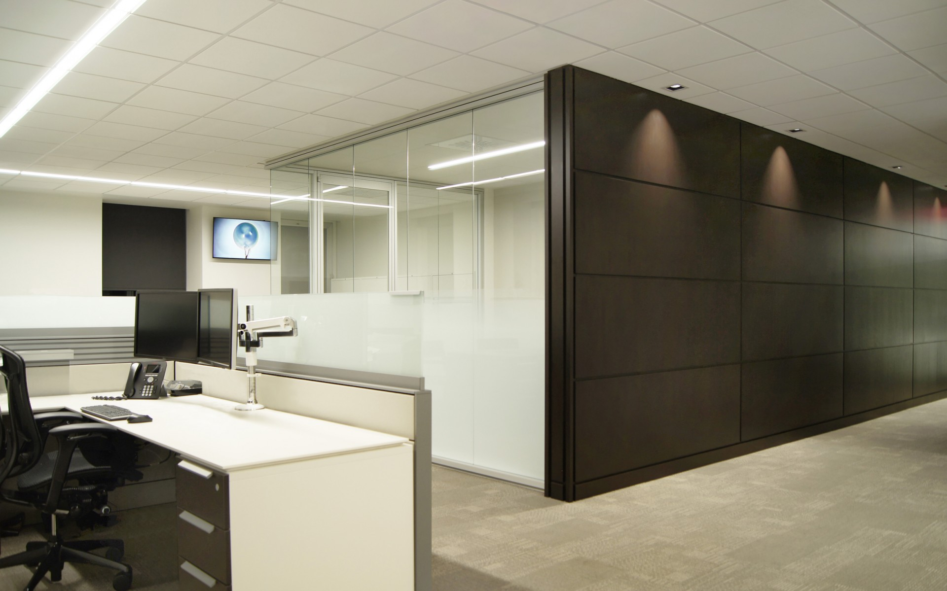 Leclerc Architecture + Design Group used Lumenline LED luminaires in 3500K, altering the size, mounting and installation for each space.