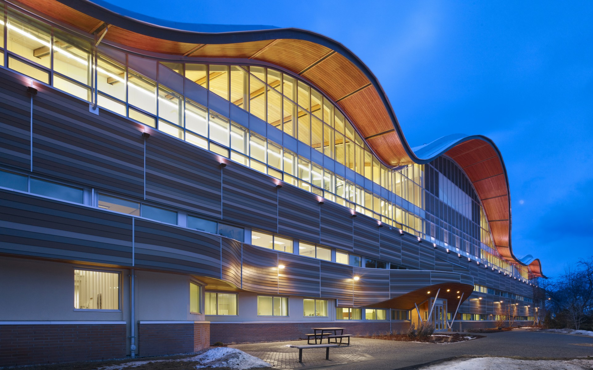 Thompson Rivers University has expanded the Old Main building, adding 40,000 square feet of learning space, and providing a home for the new Faculty of Law.