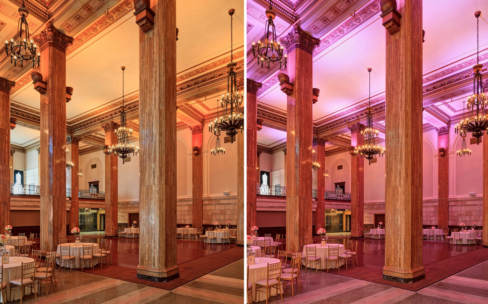 The end result reveals the space's original grandeur, reduces costs and boosts flexibility – creating a banquet hall that is timeless and modern.