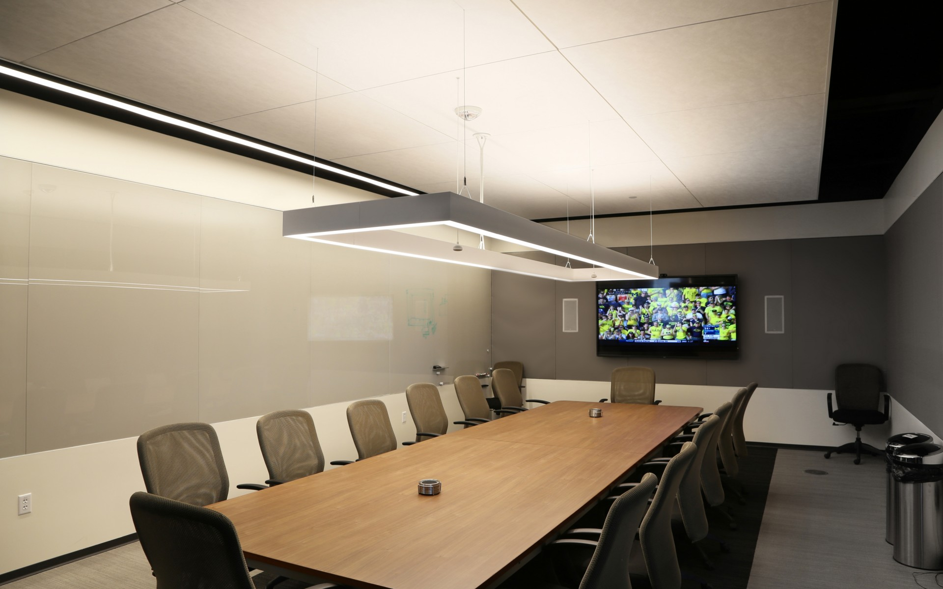 This allows the company to change the look and feel of the room, as needed.