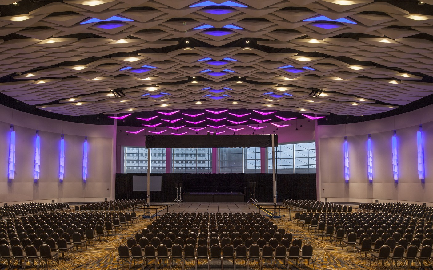 Lumenbeam Large Pendant luminaires were also used in the new ballroom.