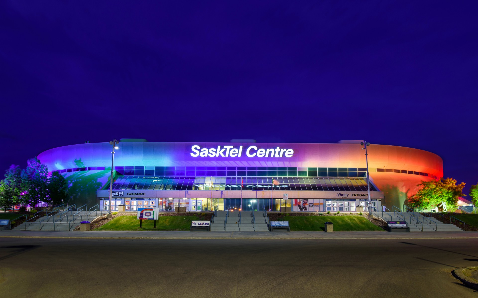 """""""We were always a focal point for the city and province, but the new light system took us to a new level,'' says John Howden, Director of Business Development at SaskTel Centre."""